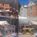 Virginia Log Cabin Being Restored Antique American Cabins