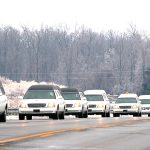 Watson Funeral Procession Led Nine White Hearses Saturday
